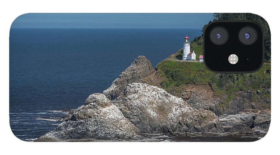 Scenics IPhone 12 Case featuring the photograph Heceta Head Lighthouse, Oregon Coast by Jeff Hunter