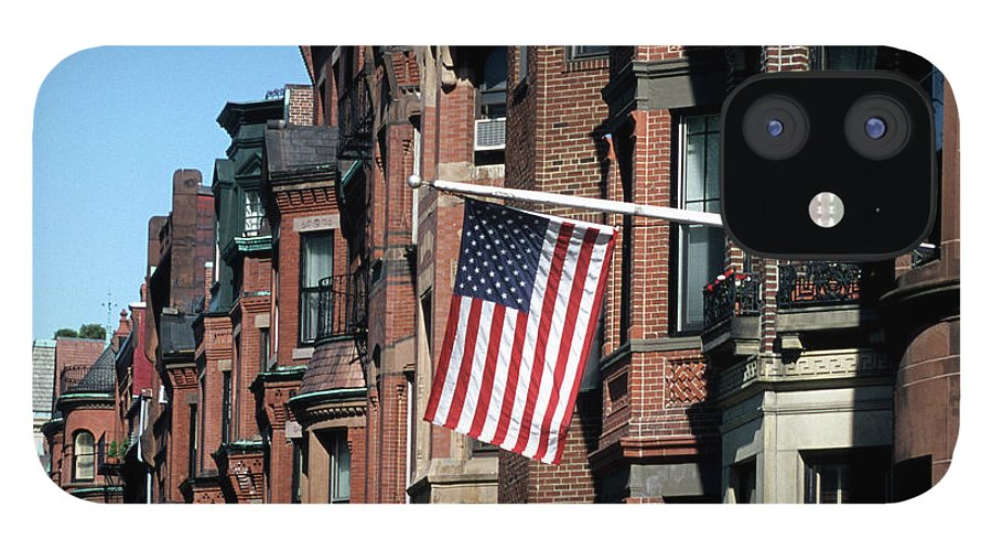 Row House IPhone 12 Case featuring the photograph Historic Back Bay Area, Boston by Hisham Ibrahim