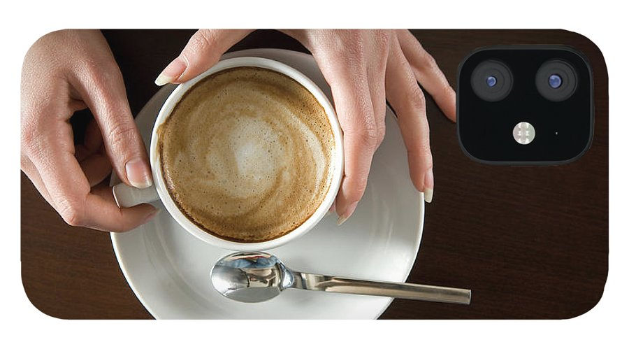Spoon IPhone 12 Case featuring the photograph Holding Cappuccino by 1001nights