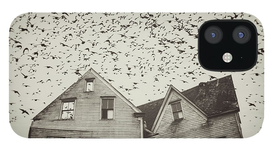 Spooky IPhone 12 Case featuring the photograph Home Of Murmuration by Shaunl
