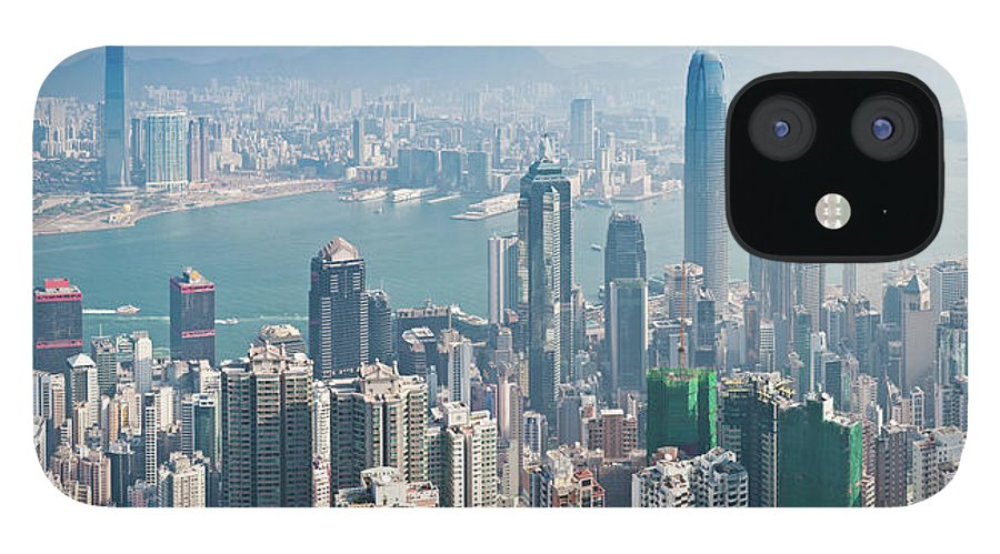 New Territories IPhone 12 Case featuring the photograph Hong Kong Iconic Skyscraper City by Fotovoyager