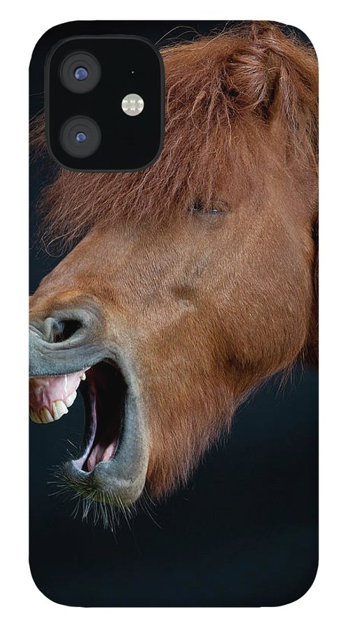 Horse IPhone 12 Case featuring the photograph Horse Showing Teeth, Laughing by Arctic-images