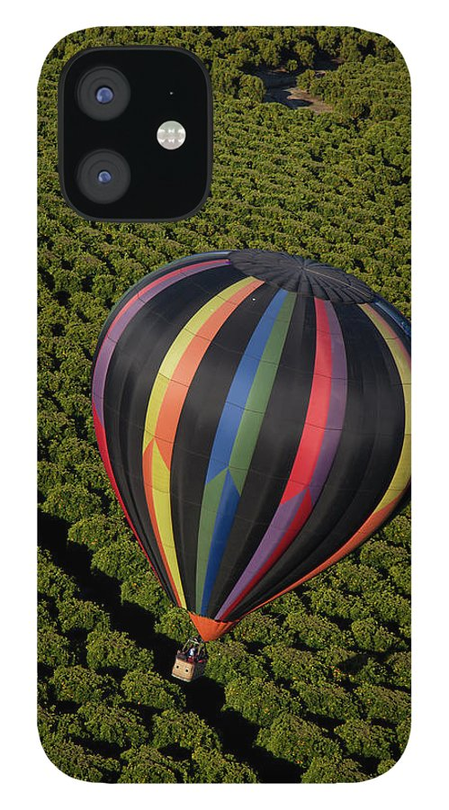 Tranquility IPhone 12 Case featuring the photograph Hot Air Balloon by Holly Harris