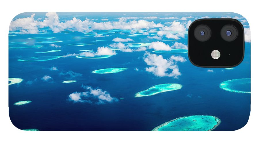 Untouched iPhone 12 Case featuring the photograph Hotel On The Island Maldives Indian by Andrey Armyagov