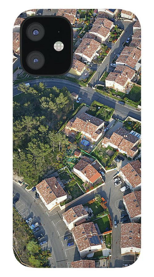 Tranquility IPhone 12 Case featuring the photograph Housing Development, Peypin, Aerial View by Sami Sarkis