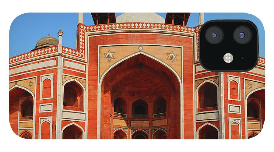 Arch IPhone 12 Case featuring the photograph Humayuns Tomb, New Delhi by Mukul Banerjee Photography