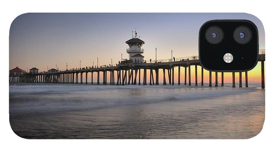 Scenics iPhone 12 Case featuring the photograph Huntington Beach Pier, California Xxxl by 4fr
