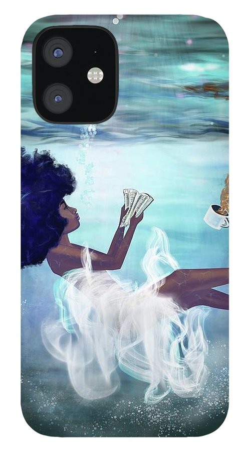 Bible IPhone 12 Case featuring the painting I aint drowning by Artist RiA