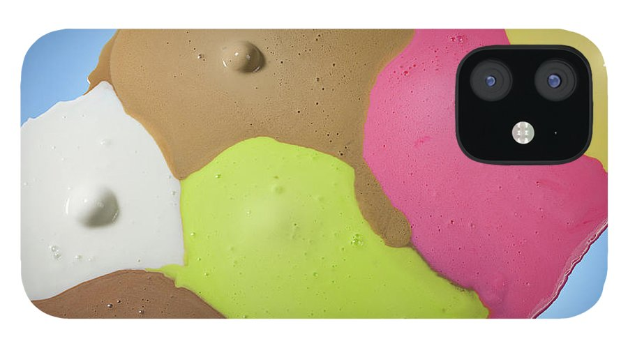 Melting IPhone 12 Case featuring the photograph Ice Cream Scoops Melting, Different by Jonathan Knowles