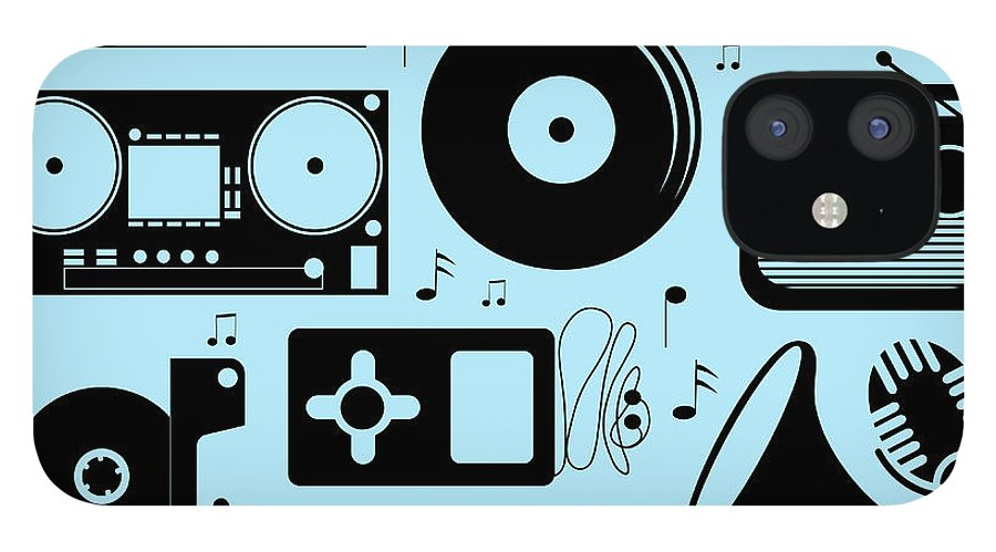 Music IPhone 12 Case featuring the digital art Illustration Of Different Musical by Olillia