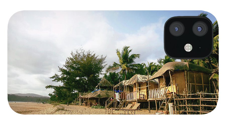 Scenics IPhone 12 Case featuring the photograph India, Goa, Beach Huts On Agonda Beach by Sydney James