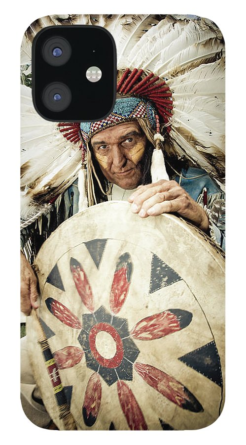Toughness IPhone 12 Case featuring the photograph Indian Chief by Mlenny