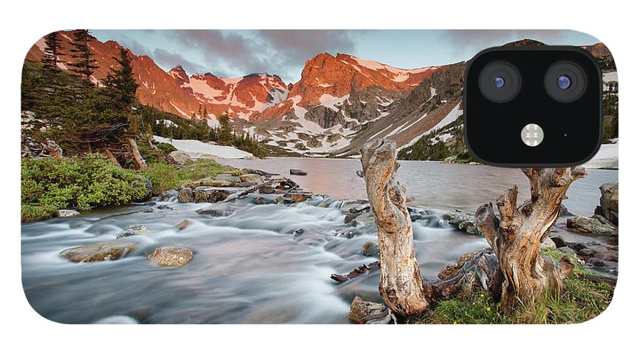 Alpenglow IPhone 12 Case featuring the photograph Indian Peaks Wilderness Lake Isabelle by Kjschoen