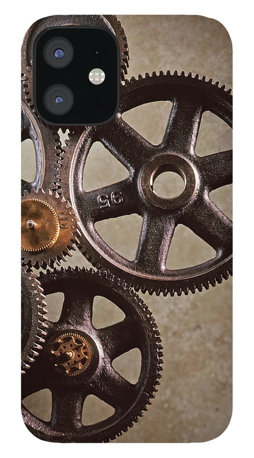 Manufacturing Equipment iPhone 12 Case featuring the photograph Industrial Gears by Dny59
