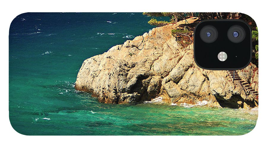 Steps IPhone 12 Case featuring the photograph Island In The Adriatic by Tozofoto