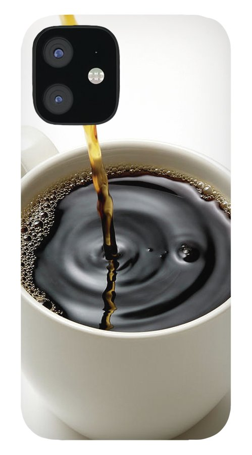 Breakfast IPhone 12 Case featuring the photograph Isolated Shot Of Pouring A Fresh Coffee by Kyoshino