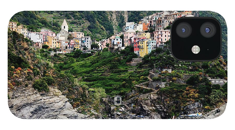 Town IPhone 12 Case featuring the photograph Italy, Liguria, Corniglia, View From by Jeremy Woodhouse