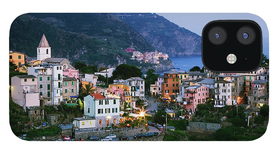 Outdoors iPhone 12 Case featuring the photograph Italy, Liguria, Corniglia With Manarola by Jeremy Woodhouse