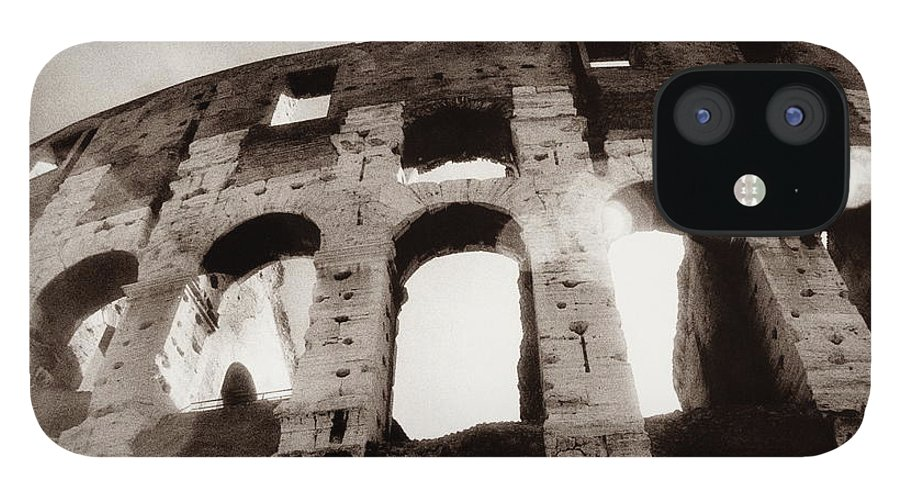 Roman IPhone 12 Case featuring the photograph Italy, Rome, The Colosseum, Low Angle by Carolyn Bross