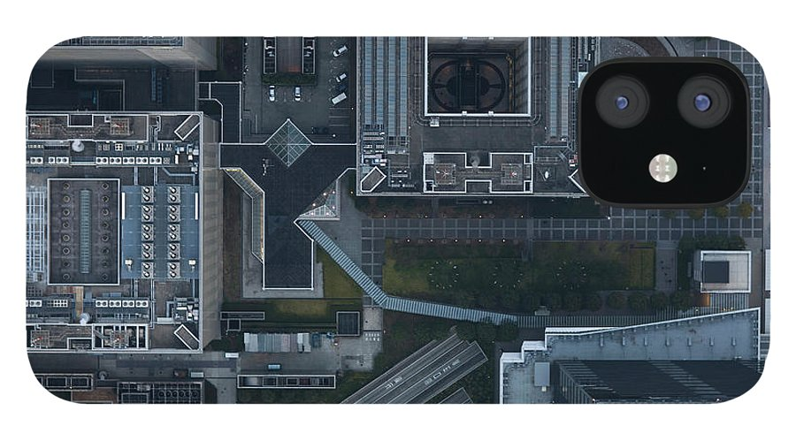 Two Lane Highway IPhone 12 Case featuring the photograph Japan, Tokyo, Aerial View Of Shinagawa by Michael H
