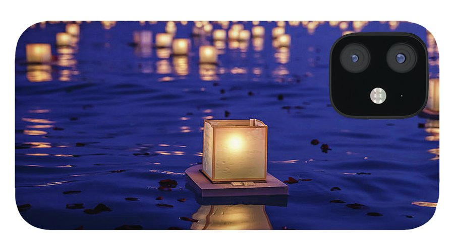 Honolulu IPhone 12 Case featuring the photograph Japanese Floating Lanterns by Julie Thurston