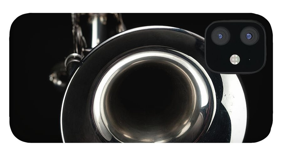 Music IPhone 12 Case featuring the photograph Jazz Music Trumpet by Photovideostock