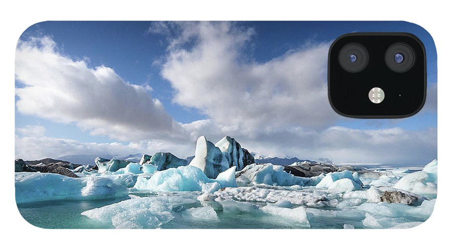 Tranquility IPhone 12 Case featuring the photograph Jökulsárlón - Glacier River Lagoon by Daniele Carotenuto Photography