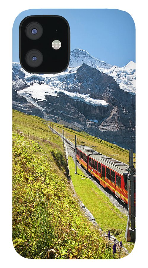 Scenics IPhone 12 Case featuring the photograph Jungfraubahn, Swiss Alps by Michaelutech