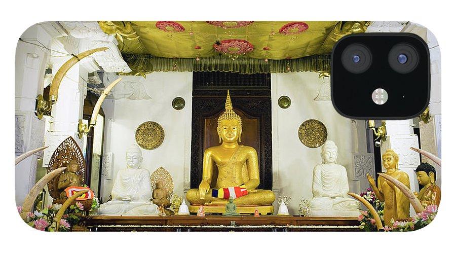 Kandy iPhone 12 Case featuring the photograph Kandy Sri Lanka Dalada Maligawa by Laughingmango