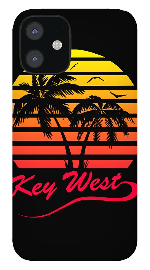 Key iPhone 12 Case featuring the digital art Key West by Filip Schpindel