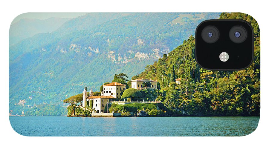 Scenics IPhone 12 Case featuring the photograph Lake Como Scenic by Anouchka