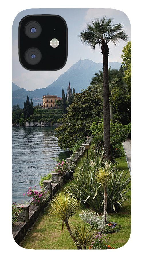 Scenics IPhone 12 Case featuring the photograph Lake Como, Varenna by Walter Bibikow