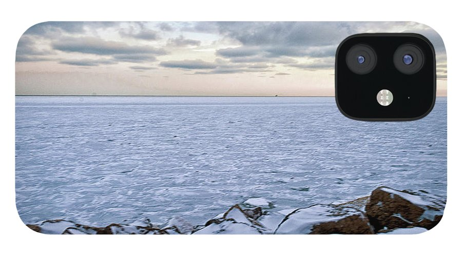 Tranquility IPhone 12 Case featuring the photograph Lake Michigan by By Ken Ilio