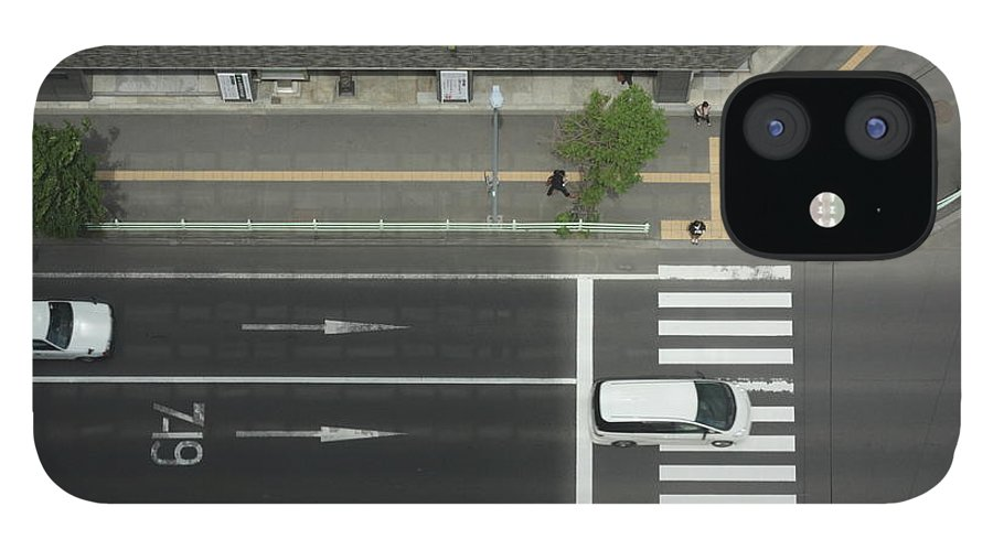Hokkaido IPhone 12 Case featuring the photograph Land Vehicles Crossing Pedestrian by Iyoupapa