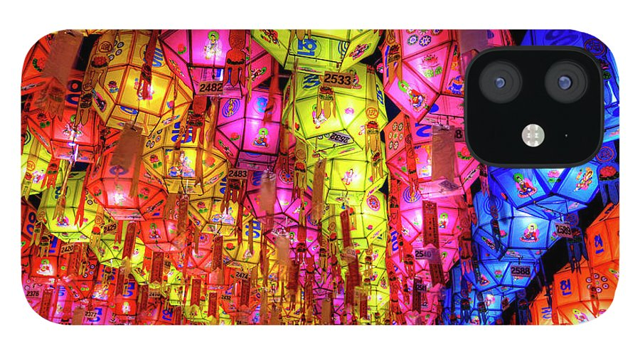 Tranquility IPhone 12 Case featuring the photograph Lanterns Hanging by Jason Teale Photography Www.jasonteale.com