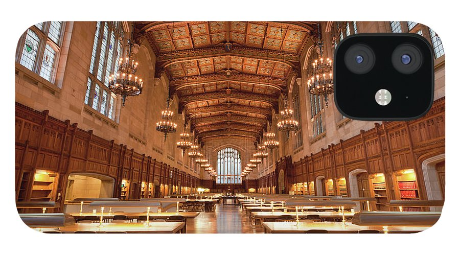 Gothic Style IPhone 12 Case featuring the photograph Law School Library, University Of by Uschools