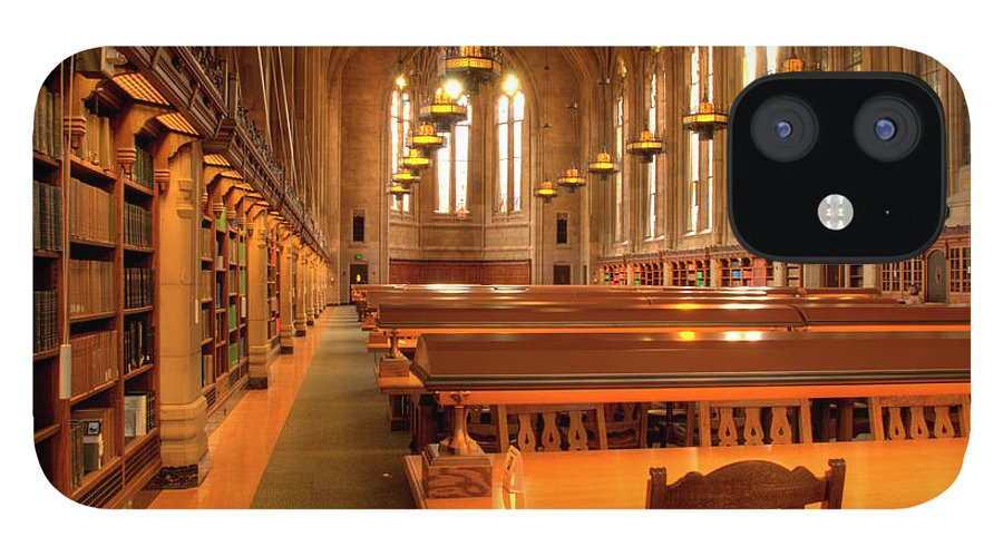 Expertise IPhone 12 Case featuring the photograph Library Tables by Rhyman007