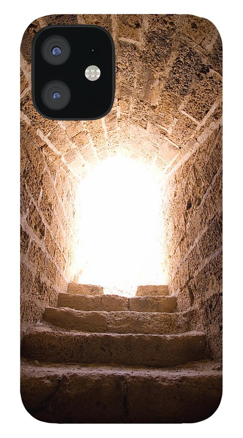 Steps IPhone 12 Case featuring the photograph Light At End Of The Tunnel by Kreicher
