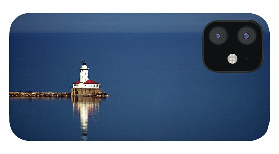 Outdoors IPhone 12 Case featuring the photograph Lighthouse On A Lake by By Ken Ilio
