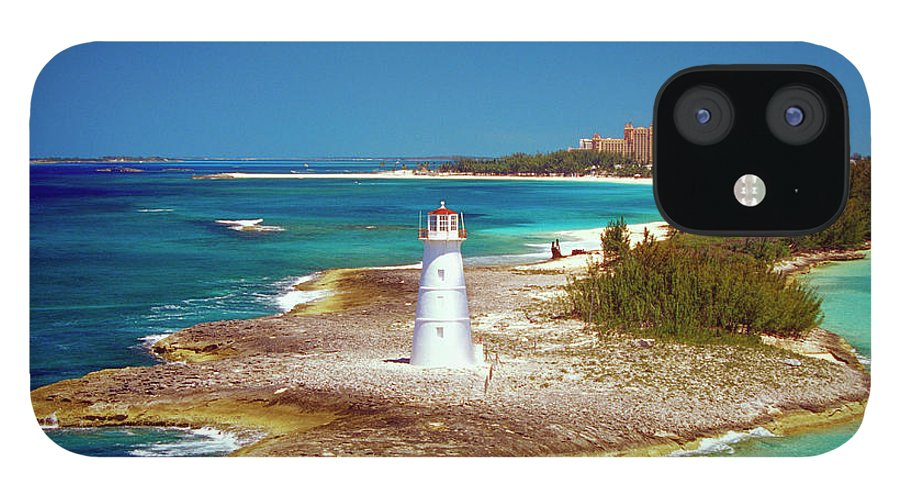 Outdoors IPhone 12 Case featuring the photograph Lighthouse On Paradise Island-nassau by Medioimages/photodisc