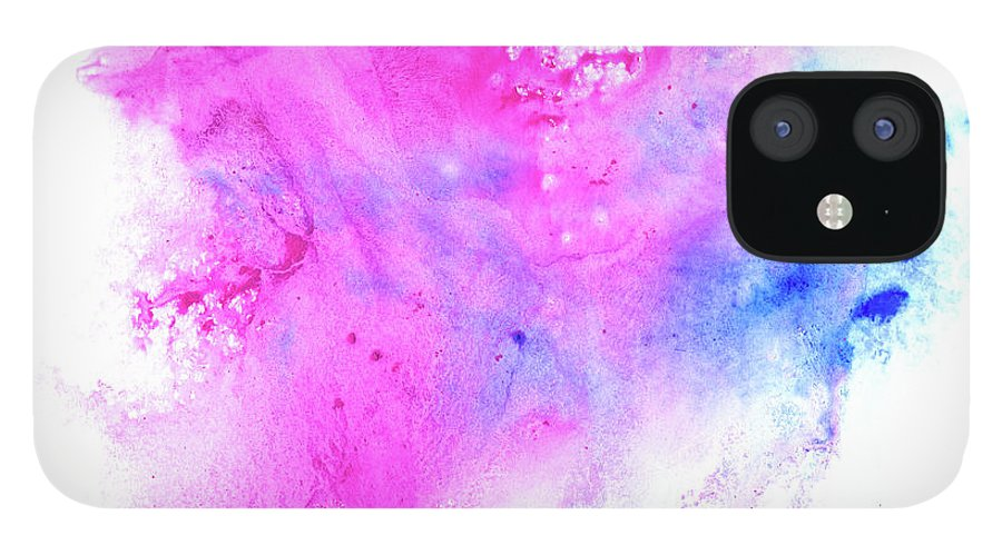 Art IPhone 12 Case featuring the digital art Lilac Blot by Pobytov