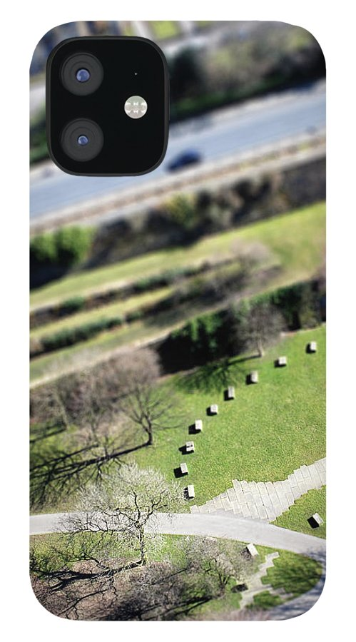 England IPhone 12 Case featuring the photograph Liverpool From Above, Tilt-shift Lens by Ilbusca
