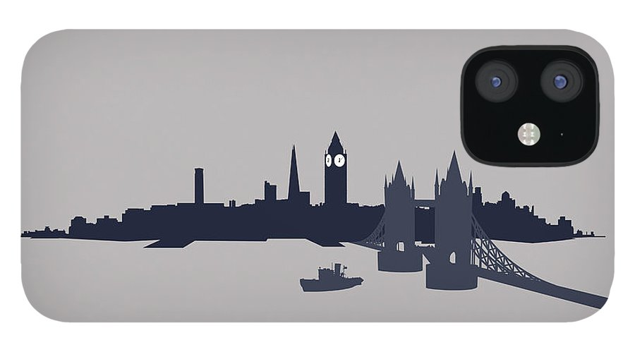 Part Of A Series iPhone 12 Case featuring the digital art London, Great Britain by Ralf Hiemisch