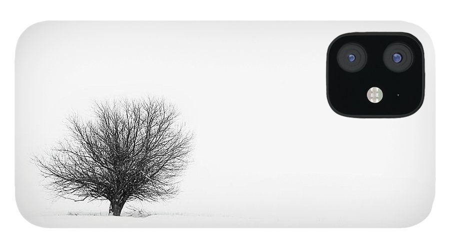 Tranquility IPhone 12 Case featuring the photograph Lone Tree by Jrj-photo
