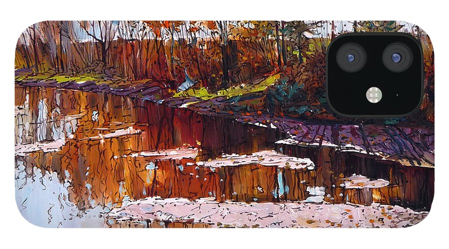 Tranquility IPhone 12 Case featuring the digital art Lonely Days by Colorfull Landscape