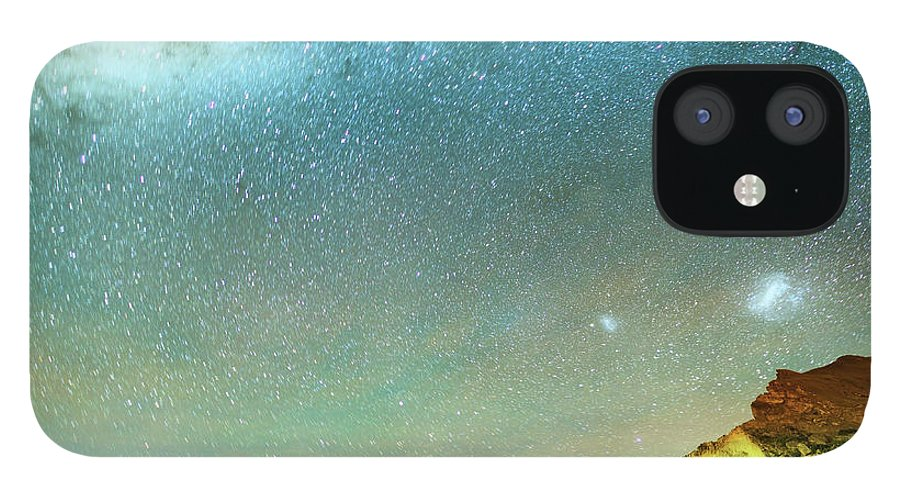 Galaxy IPhone 12 Case featuring the photograph Long Exposure Of Stars by Piskunov