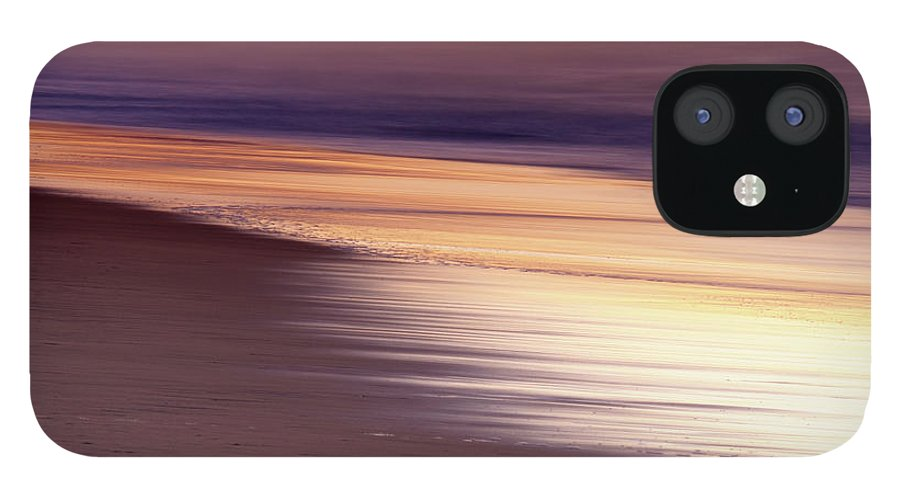 Tranquility IPhone 12 Case featuring the photograph Long Exposure Of Water At Dawn With by Emil Von Maltitz