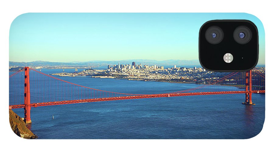 Downtown District IPhone 12 Case featuring the photograph Looking Down At The San Francisco Bridge by Ekash