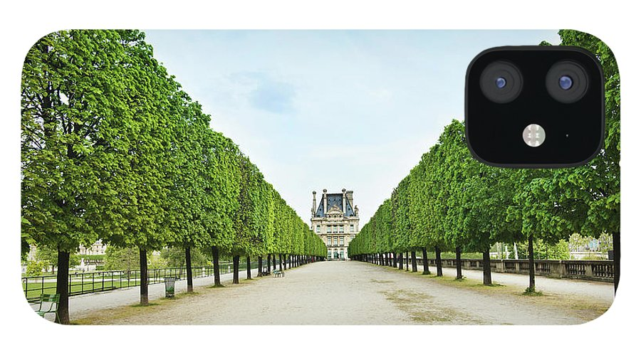 Scenics IPhone 12 Case featuring the photograph Louvre In Paris by Nikada