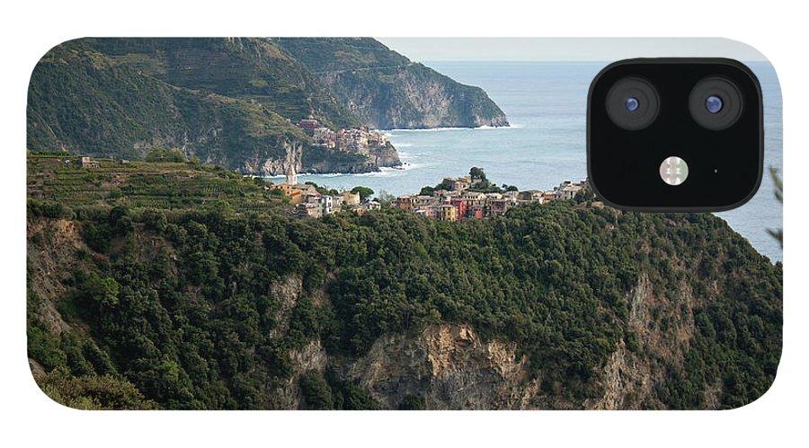 Scenics iPhone 12 Case featuring the photograph Manarola & Corniglia by Ricardo Nishioka Mori